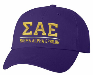 Sigma Alpha Epsilon Old School Greek Letter Hat