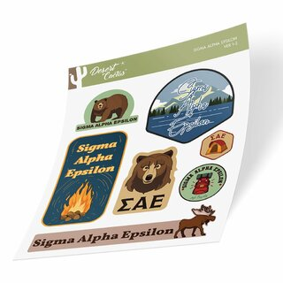 Sigma Alpha Epsilon Outdoor Sticker Sheet