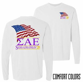 Sigma Alpha Epsilon Patriot Long Sleeve T-shirt - Comfort Colors