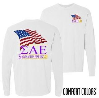 Sigma Alpha Epsilon Patriot Long Sleeve T-shirt - Comfort Colors