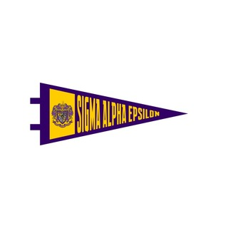 """Sigma Alpha Epsilon Pennant Decal 4"""" Wide"""