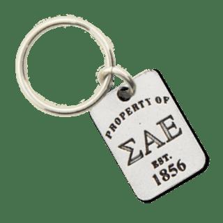 Sigma Alpha Epsilon Property of Tag Keychain