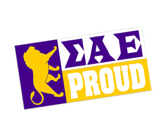Sigma Alpha Epsilon Proud Bumper Sticker - CLOSEOUT