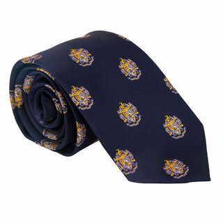 Sigma Alpha Epsilon Repeating Crest Tie Tie