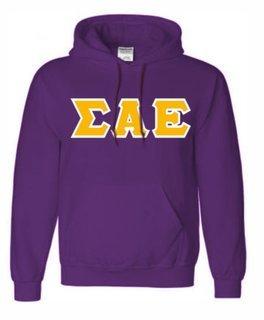 Sigma Alpha Epsilon Sewn Lettered Sweatshirts