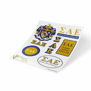 Sigma Alpha Epsilon Traditional Sticker Sheet