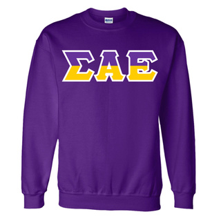 Sigma Alpha Epsilon Two Tone Greek Lettered Crewneck Sweatshirt