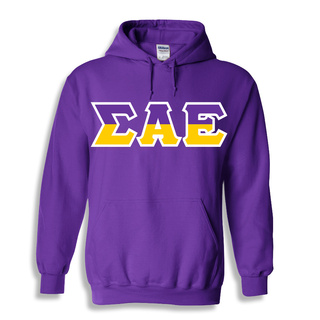 Sigma Alpha Epsilon Two Tone Greek Lettered Hooded Sweatshirt