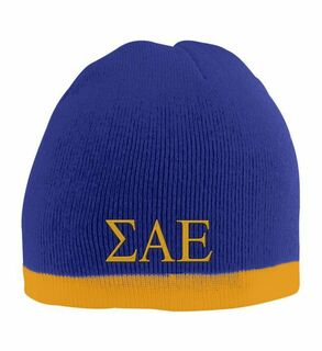 Sigma Alpha Epsilon Two Tone Knit Beanie