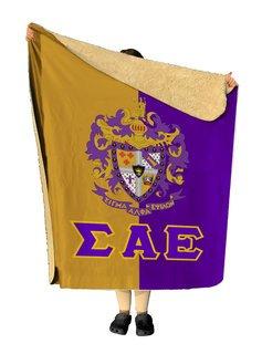 Sigma Alpha Epsilon Two Tone Two Tone Sherpa Lap Blanket