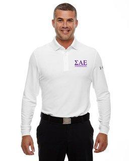 Sigma Alpha Epsilon Under Armour�  Men's Performance Long Sleeve Fraternity Polo