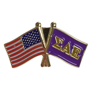 Sigma Alpha Epsilon USA Flag Lapel Pin