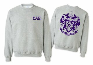 Sigma Alpha Epsilon World Famous Crest Crewneck Sweatshirt- $25!