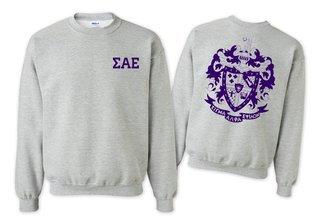 Sigma Alpha Epsilon World Famous Crest - Shield Crewneck Sweatshirt- $25!