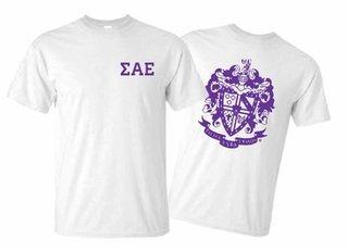 Sigma Alpha Epsilon World Famous Greek Crest T-Shirts - MADE FAST!