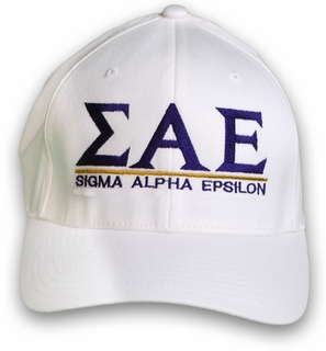 Sigma Alpha Epsilon World Famous Line Hat - MADE FAST!