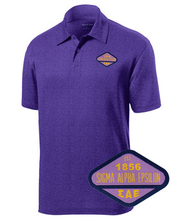 DISCOUNT-Sigma Alpha Epsilon Woven Emblem Greek Contender Polo