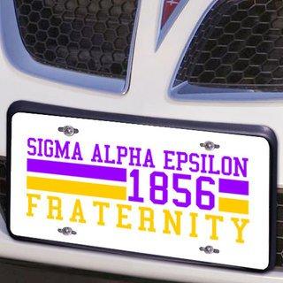 Sigma Alpha Epsilon Year License Plate Cover