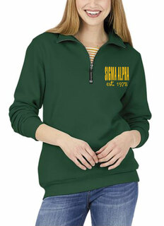Sigma Alpha Established Crosswind Quarter Zip Sweatshirt