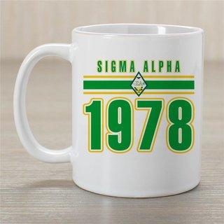 Sigma Alpha Established Year Coffee Mug - Personalized!