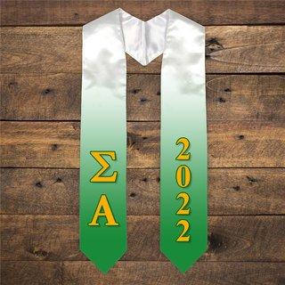 Sigma Alpha Extra Fancy Greek Graduation Stole W Year