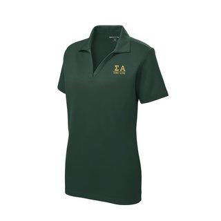 Sigma Alpha Greek Letter Polo Shirts