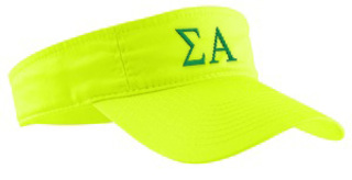 Sigma Alpha Greek Letter Visor