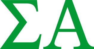 Sigma Alpha Greek Letter Window Sticker Decal