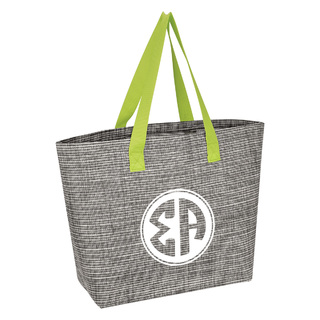Sigma Alpha Heathered Mesh Tote Bag