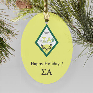 Sigma Alpha Holiday Color Crest - Shield Ornament