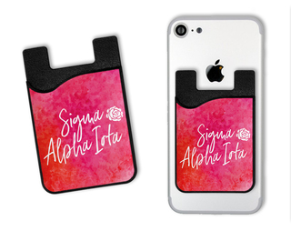 Sigma Alpha Iota Watercolor Caddy Phone Wallet