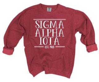 Sigma Alpha Iota Comfort Colors Custom Crewneck Sweatshirt