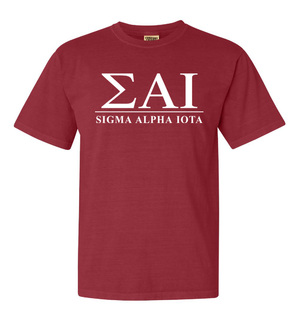 Sigma Alpha Iota Comfort Colors Heavyweight T-Shirt
