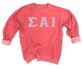 Sigma Alpha Iota Comfort Colors Lettered Crewneck Sweatshirt