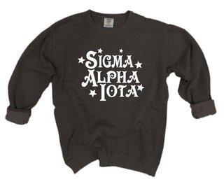 Sigma Alpha Iota Comfort Colors Old School Custom Crew
