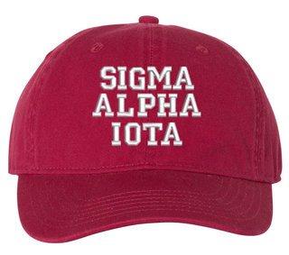 Sigma Alpha Iota Comfort Colors Pigment Dyed Baseball Cap