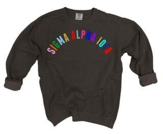 Sigma Alpha Iota Comfort Colors Rainbow Arch Crew