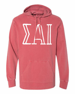 Sigma Alpha Iota Comfort Colors - Terry Scuba Neck Greek Hooded Pullover