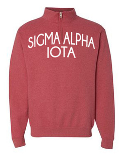 Sigma Alpha Iota Over Zipper Quarter Zipper Sweatshirt