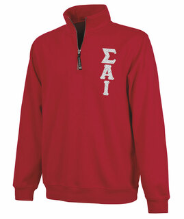 Sigma Alpha Iota Crosswind Quarter Zip Twill Lettered Sweatshirt