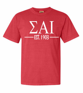 Sigma Alpha Iota Custom Greek Lettered Short Sleeve T-Shirt - Comfort Colors