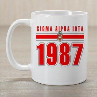 Sigma Alpha Iota Established Year Coffee Mug - Personalized!