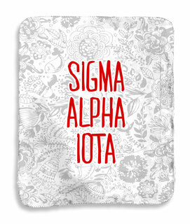 Sigma Alpha Iota Floral Sherpa Lap Blanket
