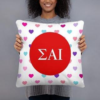 Sigma Alpha Iota Hearts Pillow