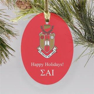 Sigma Alpha Iota Holiday Color Crest - Shield Ornament