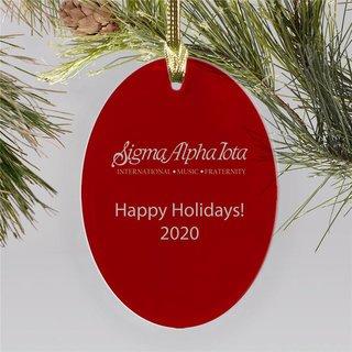 Sigma Alpha Iota Holiday Color Mascot Christmas Ornament