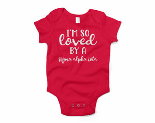 Sigma Alpha Iota I'm So Loved Baby Outfit Onesie