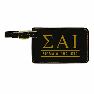 Sigma Alpha Iota Leatherette Luggage Tag