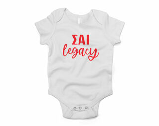Sigma Alpha Iota Legacy Baby Outfit Onesie