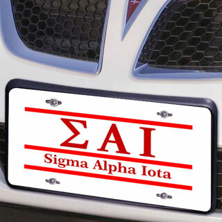 Sigma Alpha Iota Lettered Lines License Cover